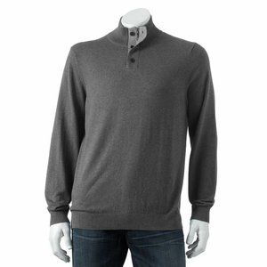 Croft and Barrow Signature Sweater L Tall Charcoal